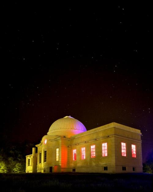 Fuertes Observatory against a starry sky