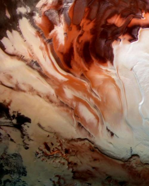 Reflections of Mars' South Pole