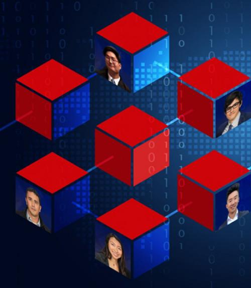 Graphic showing seven cubes