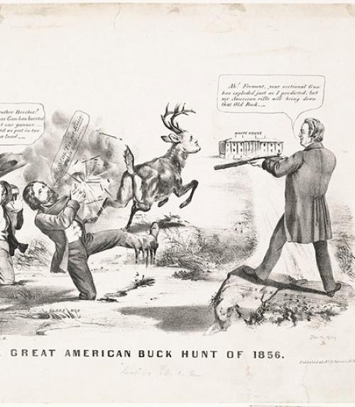 Political cartoon from 1856