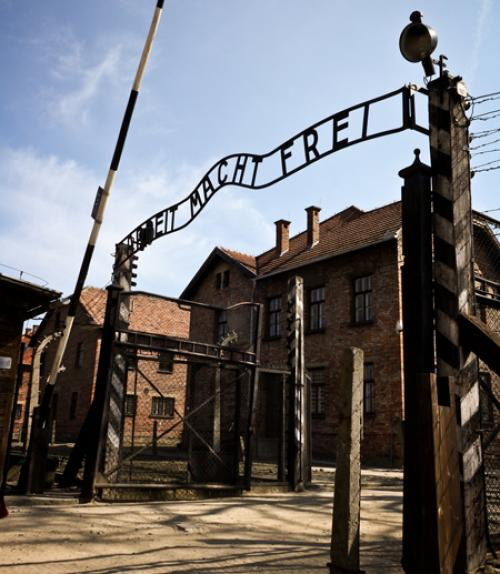The gate of Auschwitz