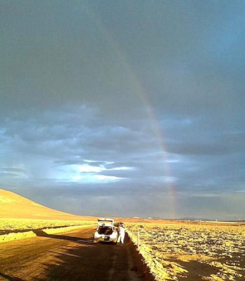 atacama desert rainbow