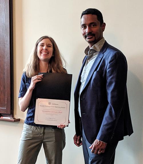 Dean Jayawardhana and a graduate student