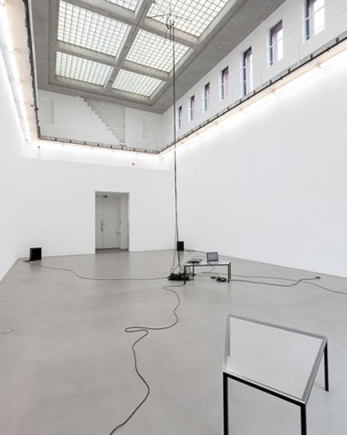 Marina Rosenfeld's 2017 installation Deathstar at Portikus Frankfurt.