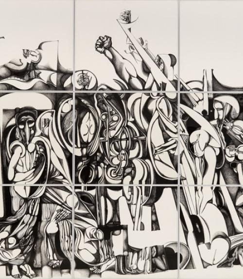Ibrahim-El-Salahi artwork