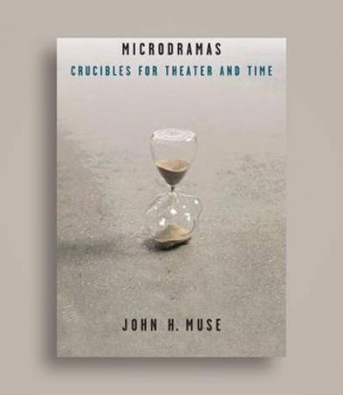 """Cover of """"Microdramas"""" with hourglass image"""
