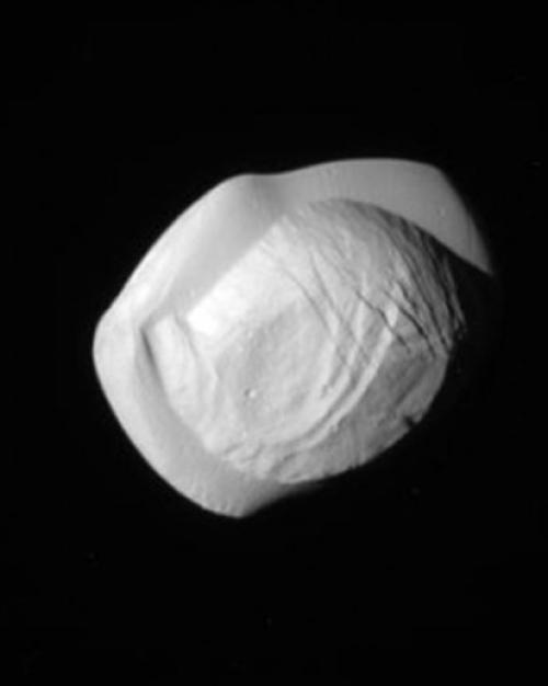 Saturn's small moon Pan