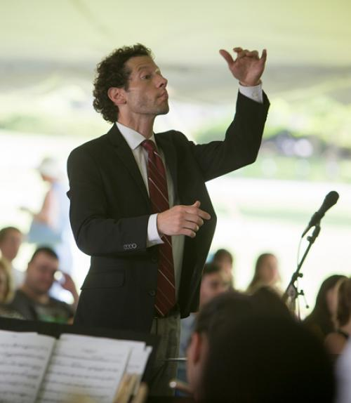 The director of the Cornell University Wind Symphony