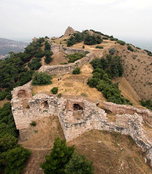 Segment of wall on the Sardis acropolis