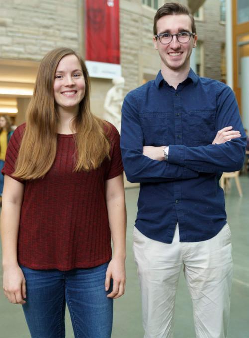 Lauren Stechschulte '17 and Kevin Beaulieu '17
