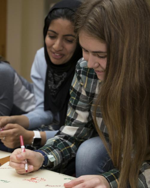 Students in an advising seminar