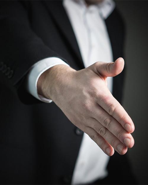 Stock image of hand