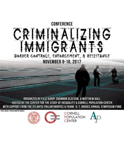 "Poster for ""Criminalizing Immigrants"" conference"