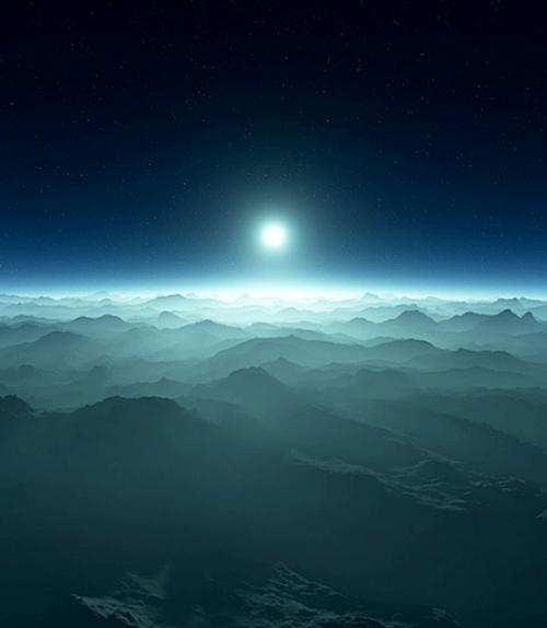 Blue hills and a horizon