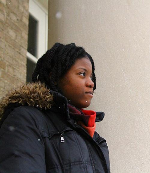 Chistine Jasmin in the snow