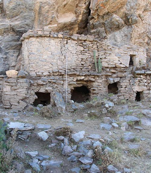 Above-ground tombs at the cemetery site of Yuraq Qaqa (Colca Valley, Peru).