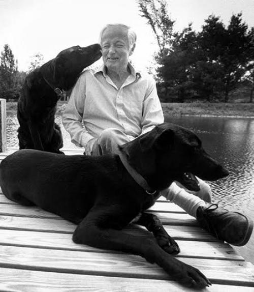 James McConkey and his dogs