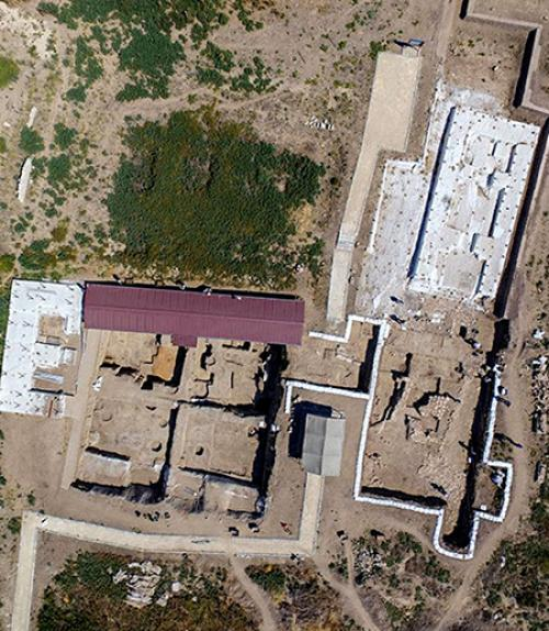 aeriel image of an excavation site