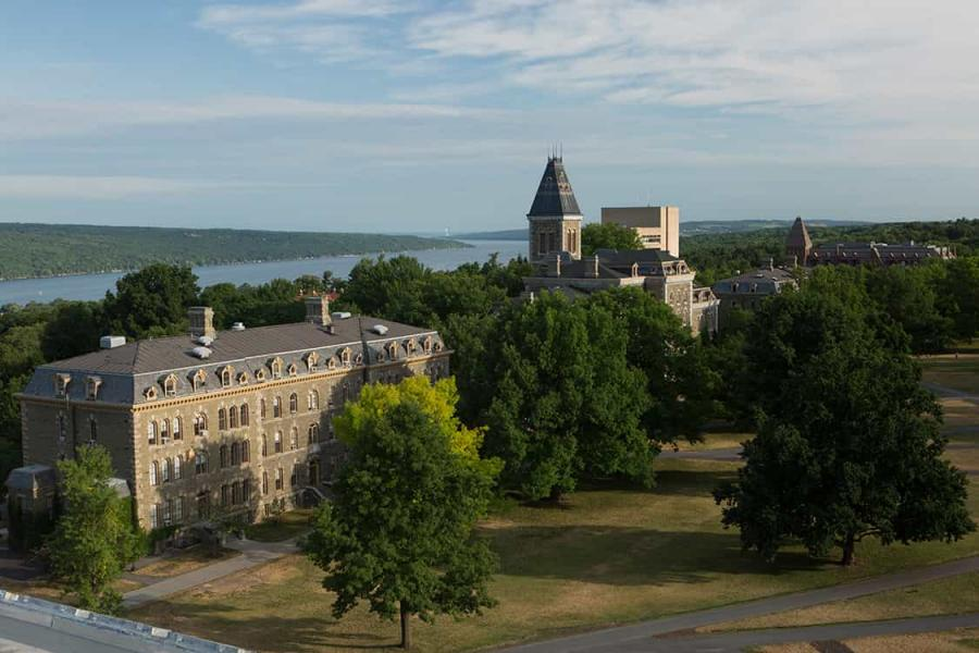 Panorama of Morrill Hall and the Arts Quad
