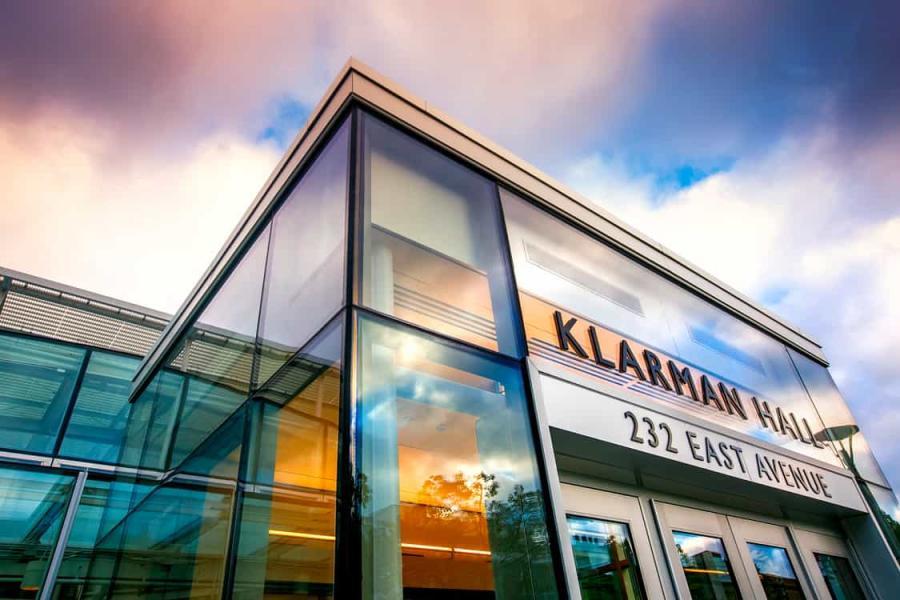 Klarman Hall entrace