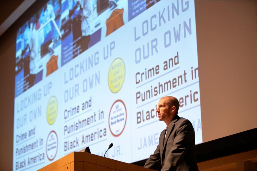 Professor Peter Enns introducing a speaker