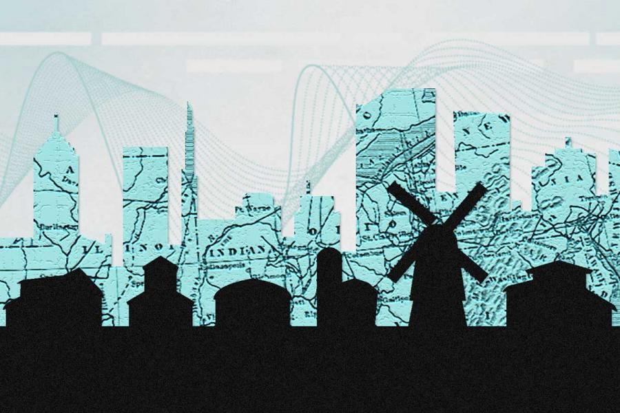 Illustration of building silhouettes