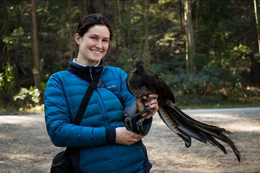 Kelsie Lopez with bird