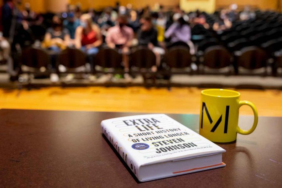 book and coffee mug