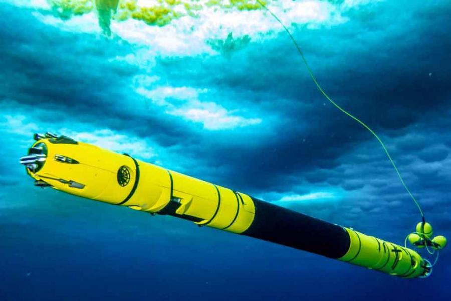 an underwater robot
