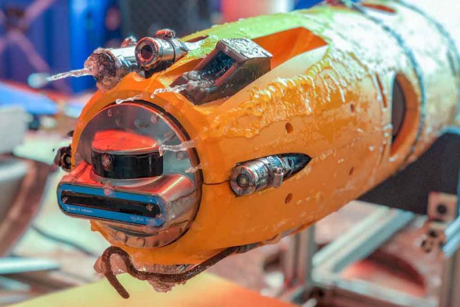 underwater robot close up