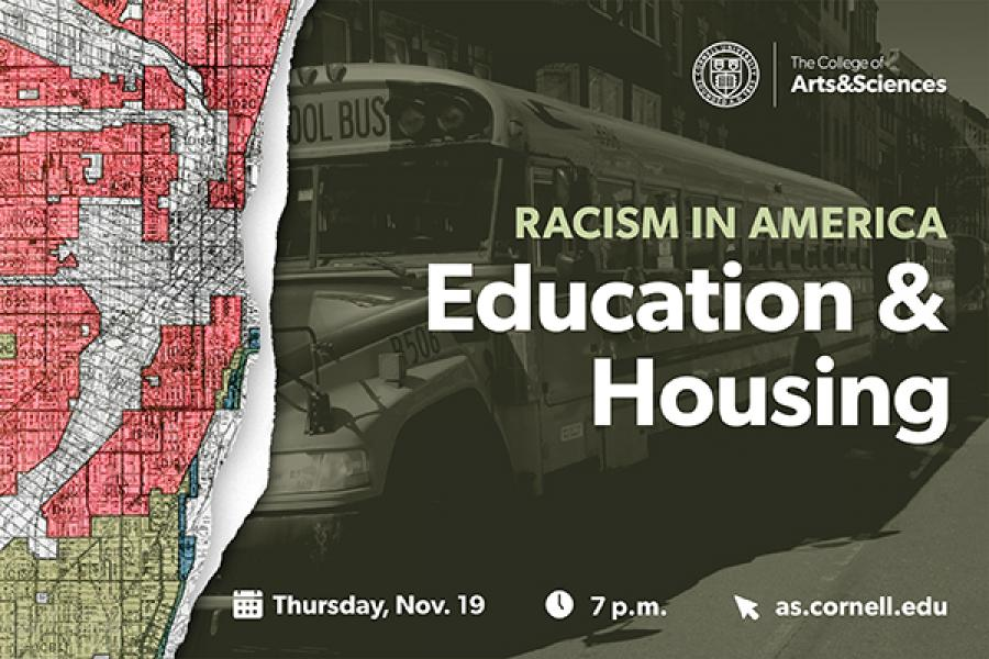 Event poster showing a map and a school bus