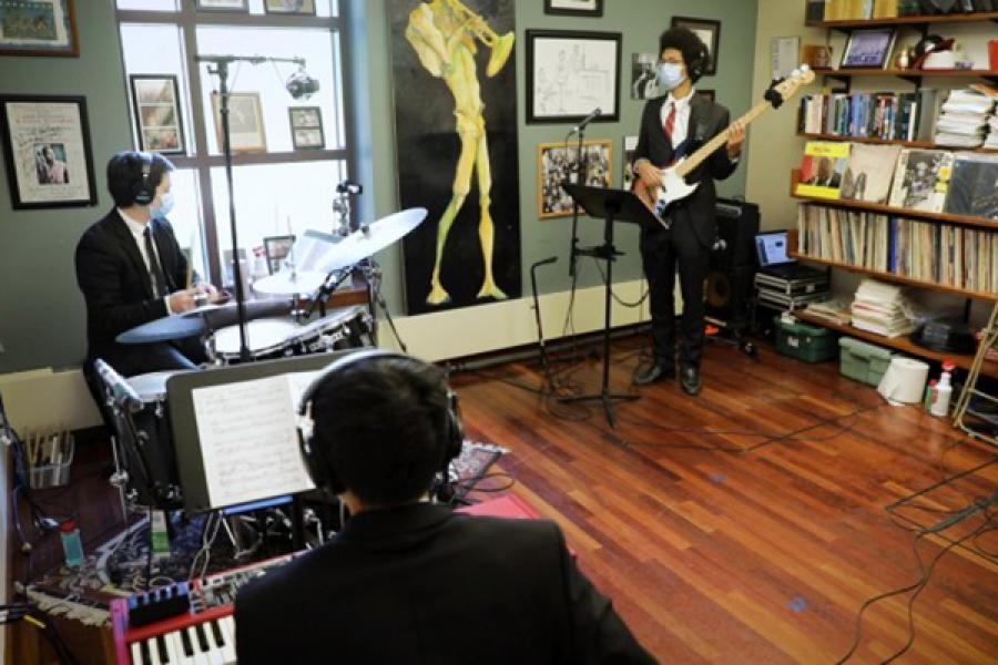Three jazz musicians