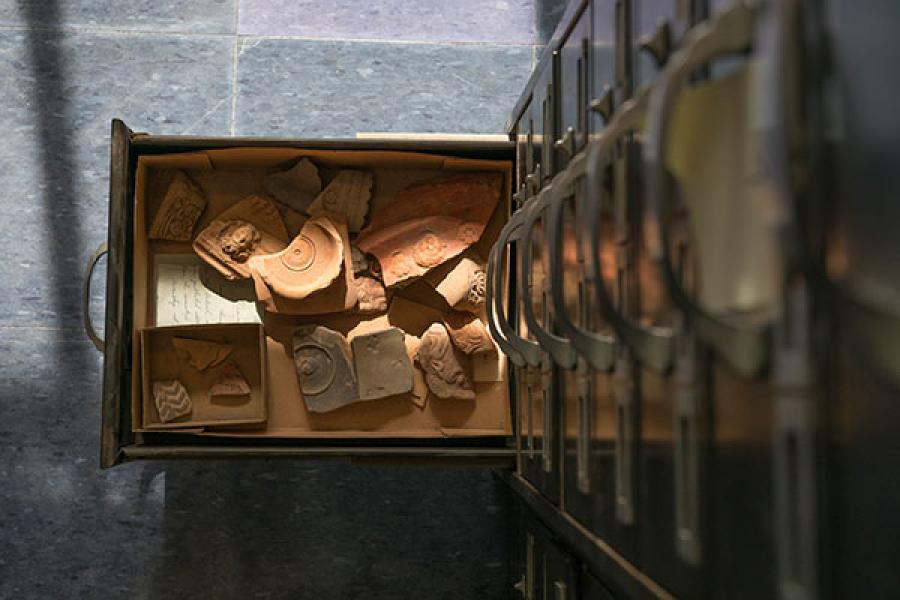 A drawer full of potsherds