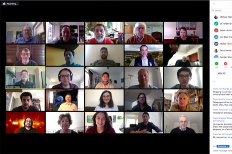 Screenshot of Zoom participants