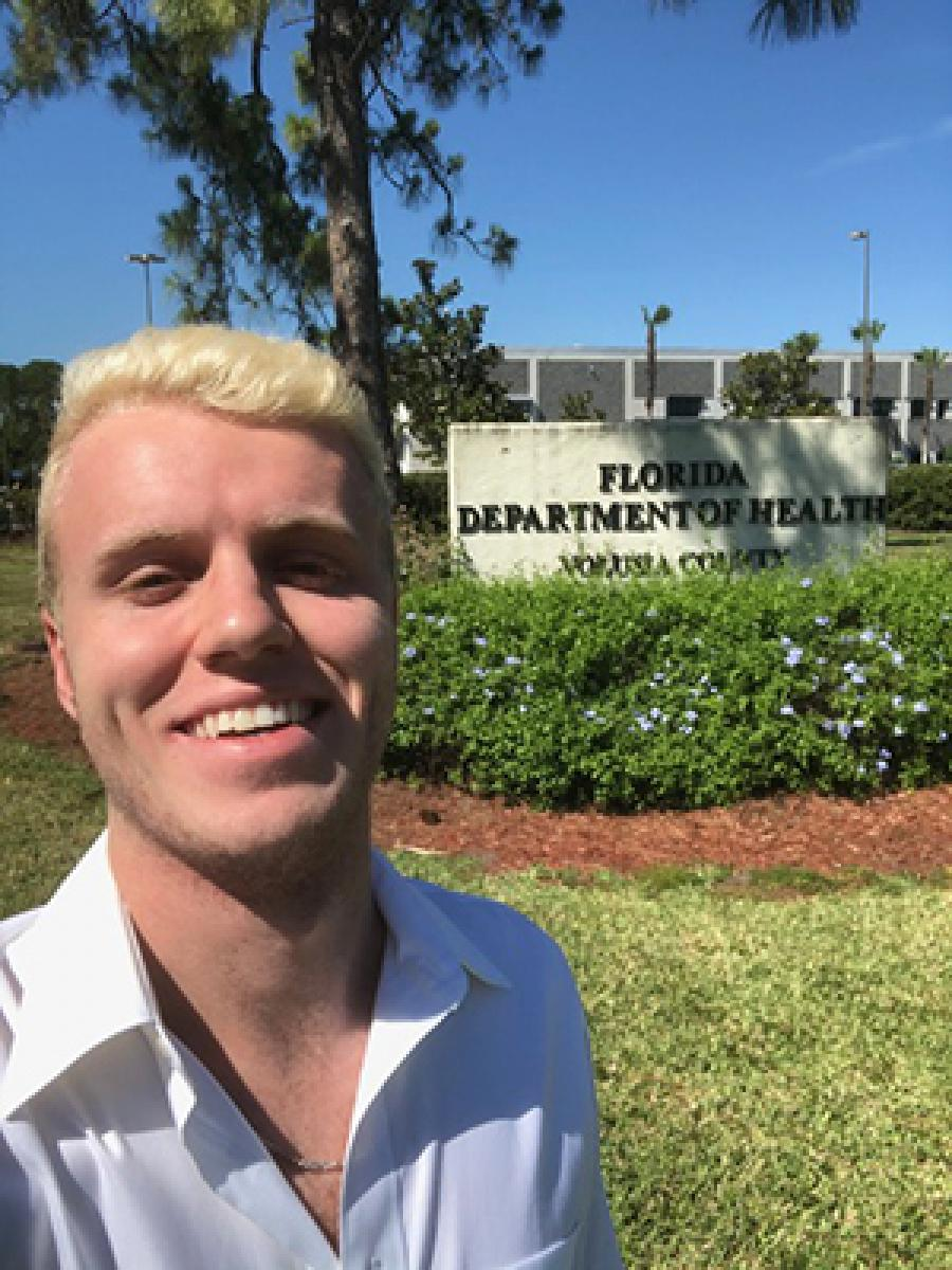 Dalton Price outside health department offices
