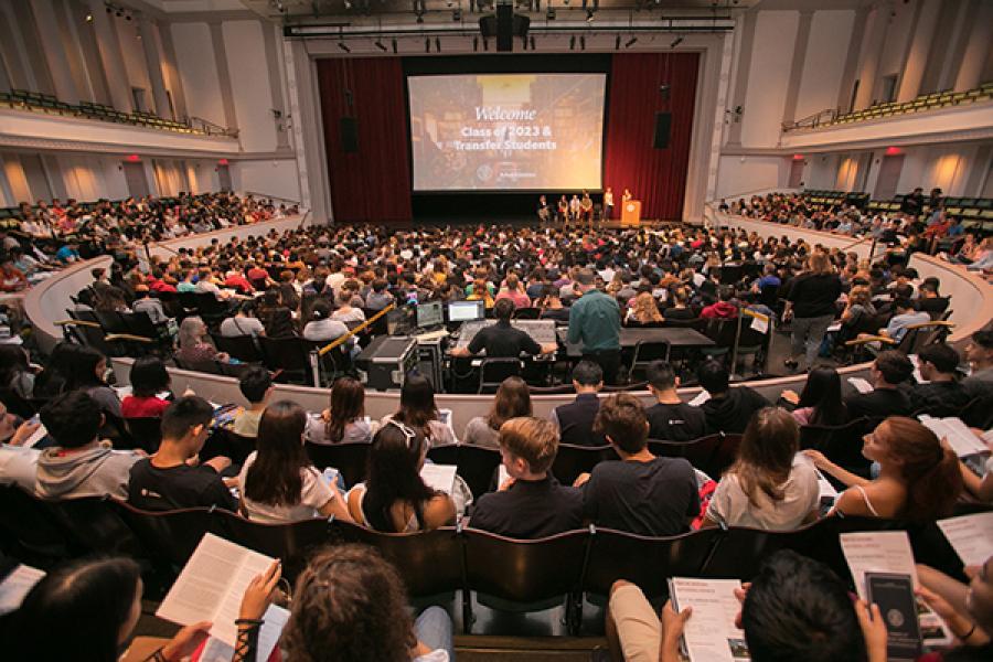 Bailey Hall crowd
