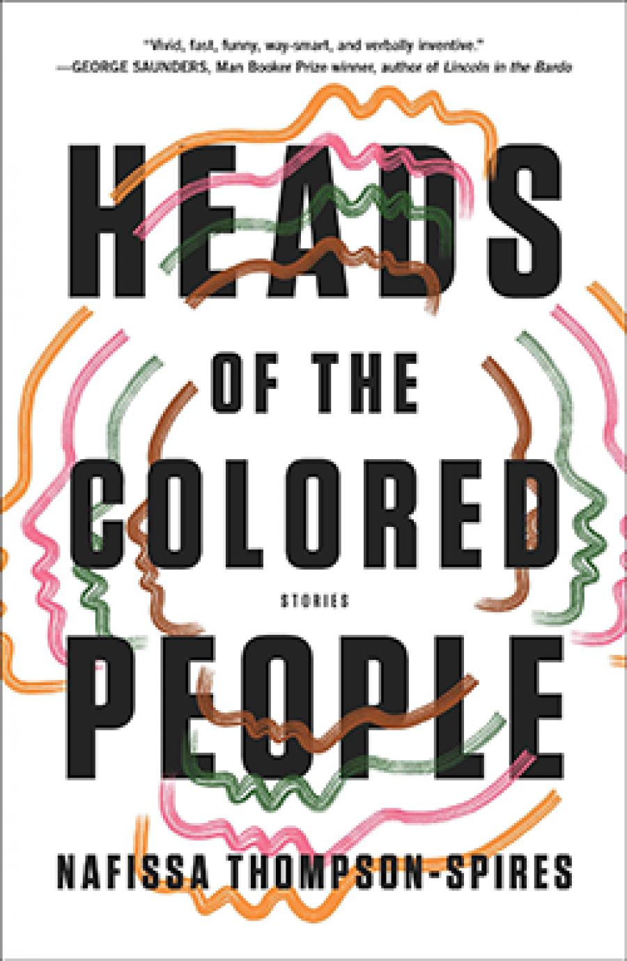 Book Cover with colorful head silhouettes