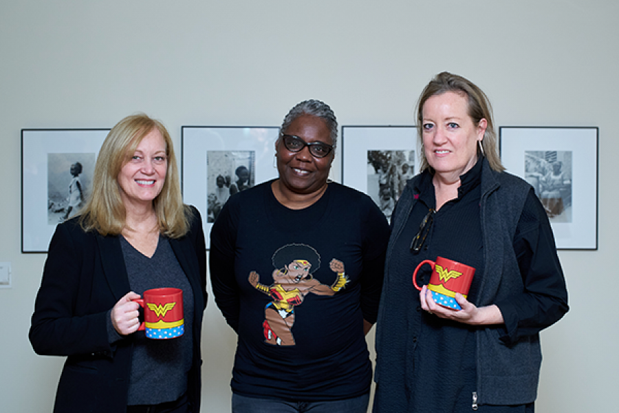 From left to right; Dawn Schrader, Noliwe Rooks, Lori Leonard