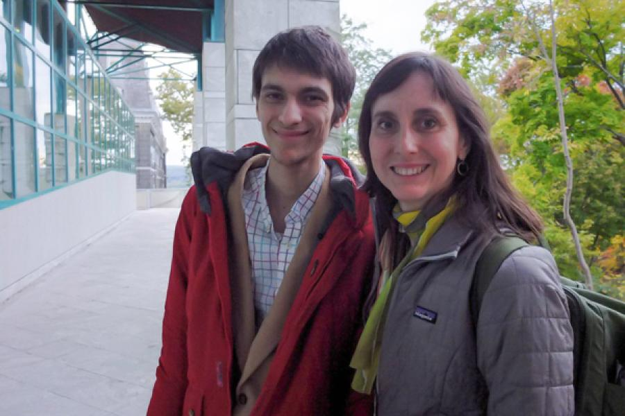 Sam Saper and Lynn Tomlinson at Cornell