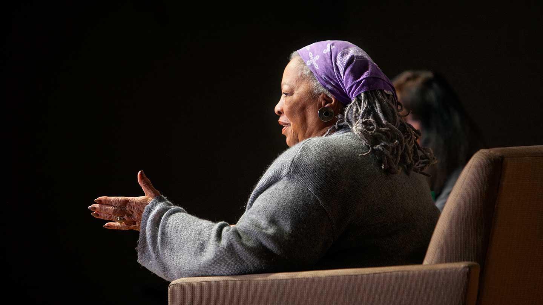 Toni Morrison speaking at Cornell